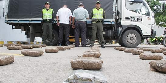 Policía incautó 34 kilos de marihuana en Floridablanca