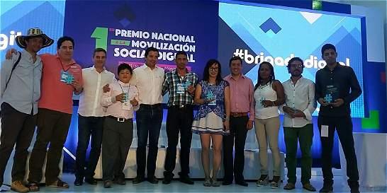 Proyectos del Magdalena ganan Premio a la Movilización Social Digital