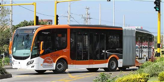 Paro del transporte público en Cartagena contra Transcaribe
