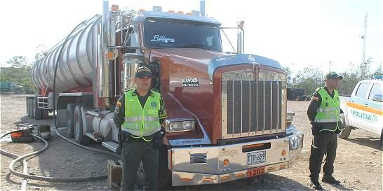 Frustran hurto de camión cisterna con 11.000 galones de Acpm