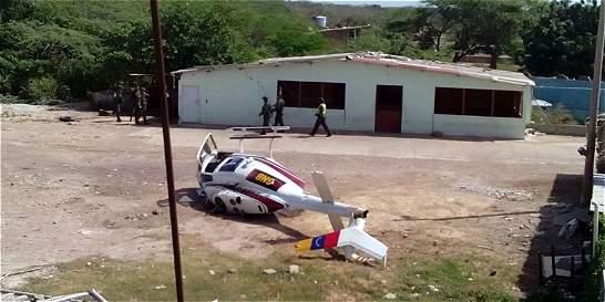 Tres oficiales heridos deja caída de helicóptero militar en La Guajira
