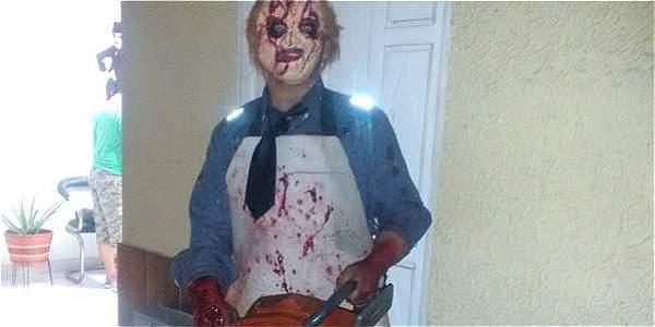 Disfraz de 'Masacre en Texas' en El Cerrito
