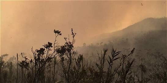 Llamas consumen área de reserva ambiental en Norte Santander