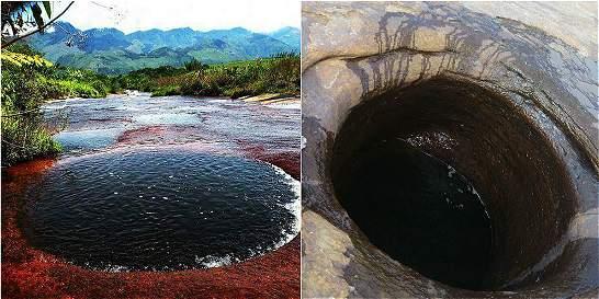 En fotos: la sequía destapó los cráteres de una quebrada en Santander