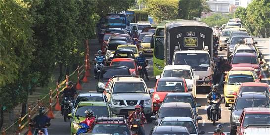 Lenta movilidad en Bucaramanga