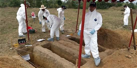 En La Macarena hallaron 66 restos de no identificados, pero habría más