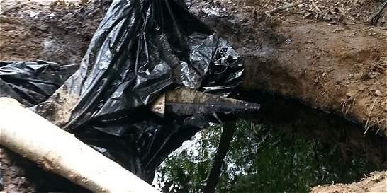 Derrame de crudo en la región del Catatumbo por válvula ilegal