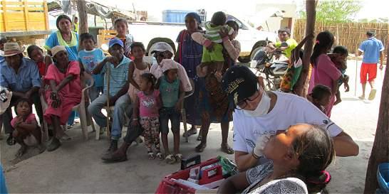 Lluvia de médicos 'bañó' la árida Guajira