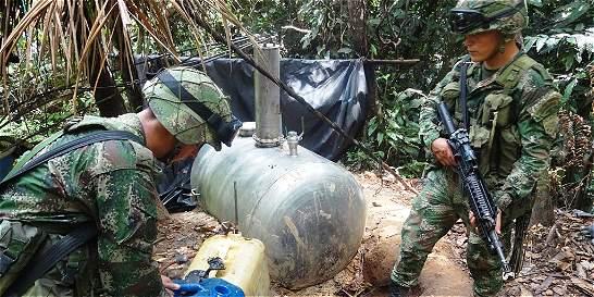 Desmantelan refinería ilegal del Eln en el Catatumbo