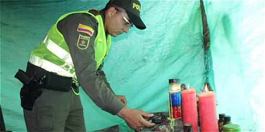 Descubren cambuches en reserva forestal que eran usados para santería