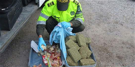 Policía halló 79 kilogramos de marihuana oculta entre bocadillos