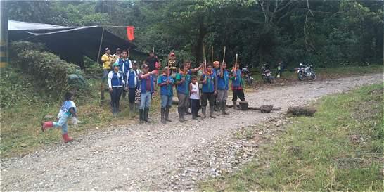 Indígenas mantienen bloqueo en planta de gas en Norte de Santander