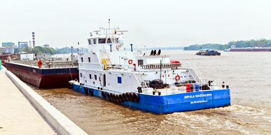 Las exportaciones ya navegan por el río Magdalena
