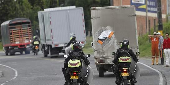 Manifestantes de paro camionero intentaron bloquear vía en Manizales