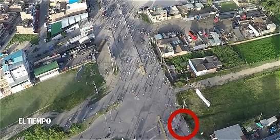 Dron grabó momento de la muerte de Luis Saiz en protestas en Duitama