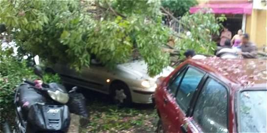 Emergencias por tormenta eléctrica con granizo en Bucaramanga