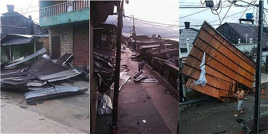 Vendaval en Quibdó dejó 2.500 viviendas sin techo