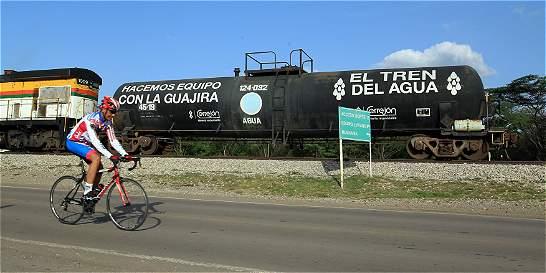 El 'Tren del agua' que recorre La Guajira