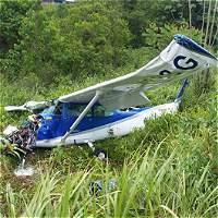 Sin consecuencias se estrelló avioneta en Santander