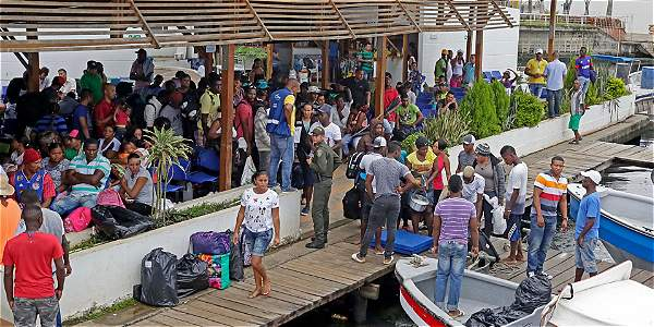 Ante ultimátum, migrantes en Turbo comenzaron viaje por la selva