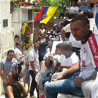 Familiares y amigos dan el último adiós a 'Jaricho' Valderrama