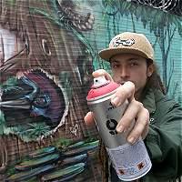 Pereirano representará al país en eventos de artistas del graffiti