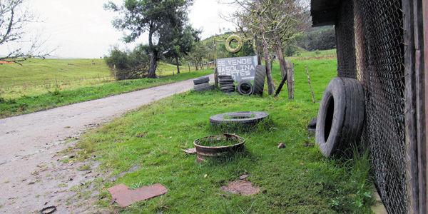 En este montallantas de la vereda Balsillas, de San Vicente de Caguán, milicianos de las Farc mataron a Iván Darío Soto.