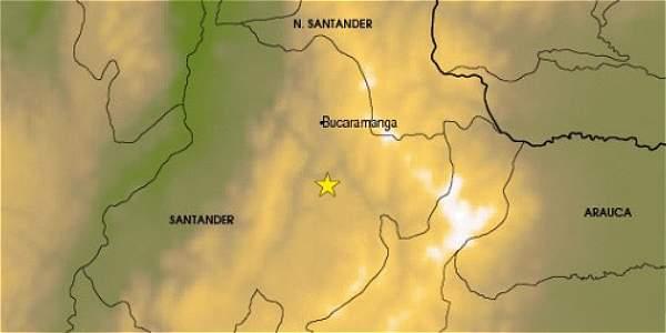 Sismo de 5 grados se registró en Los Santos, Santander