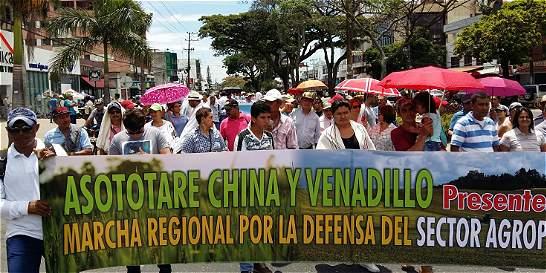 Arroceros protestaron por tarifas insostenibles