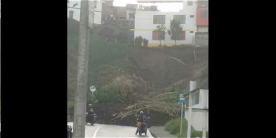 Deslizamiento en Manizales congestiona vía Panamericana