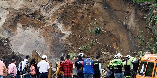 El derrumbe que inauguró el invierno en Manizales