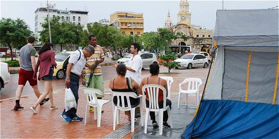 Cartagena acampa por la paz en el Parque Centenario