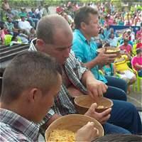 Lucio López, el más comilón de arroz