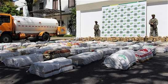 Decomisan tres toneladas de marihuana con destino a Bogotá y Soacha