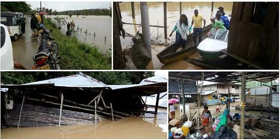 Lluvias se llevaron los cultivos de agricultores en el Chocó