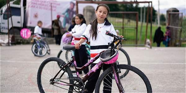 La bicicleta que cambia la vida de Carol Julieth