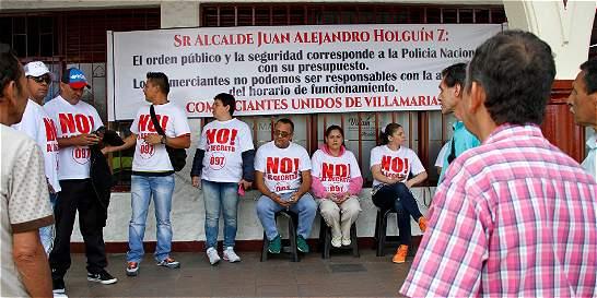 Protesta de 'amanecederos' no frena regulación en Villamaría, Caldas