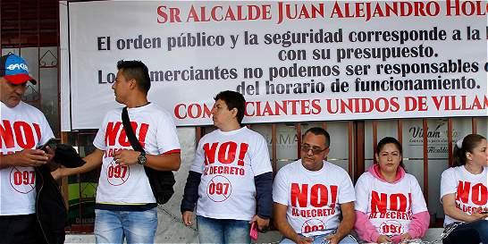 'Amanecederos' y Alcaldía de Villamaría comenzaron a negociar su paz
