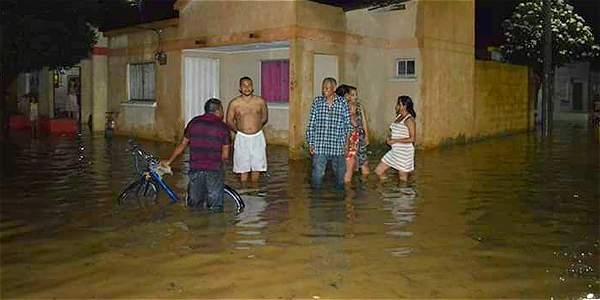Las fuertes lluvias en Riohacha han logrado inundar varias de las localidades de la ciudad.