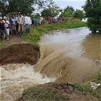 Se desbordó el río Cauca y se inundó zona rural de Guaranda (Sucre)