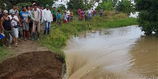 Se desbordó el río Cauca y se inundó zona rural de Guaranda, Sucre