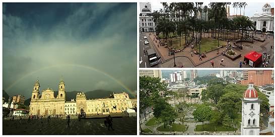 Así han cambiado las plazas y los parques públicos de Colombia