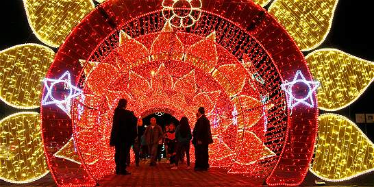 Manizales brilla con  su alumbrado navideño