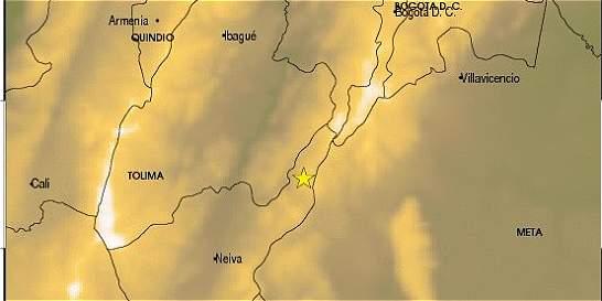Registran sismo de 4,5 grados en el municipio de Colombia, en Huila