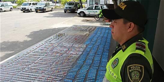 Incautan 1.841 elementos de pólvora en el área metropolitana de Cúcuta