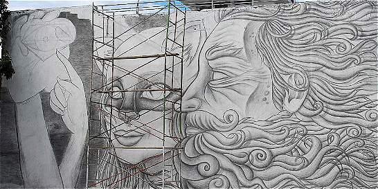 En fotos: el mural más grande del mundo hecho a lápiz está en Colombia