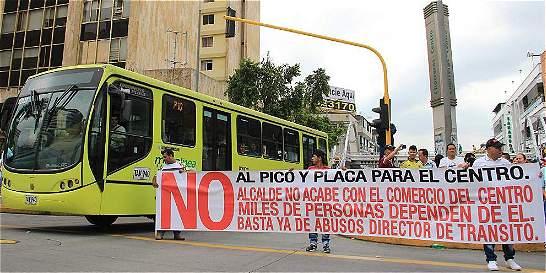 Alcaldía de Bucaramanga modificó polémico pico y placa en zona centro