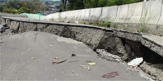 Invierno provocó daños en obras complementarias del túnel de La Línea