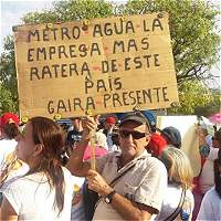Samarios marcharon contra el servicio de Metroagua