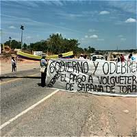 En Santander, contratistas de Ruta del Sol exigen pago de honorarios